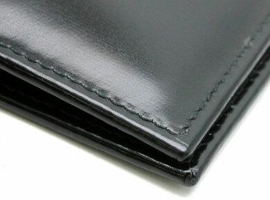 【新品未使用品】【財布】BVLGARIブルガリ2つ折財布札入れスムースレザーメンズ黒ブラック22311【k】