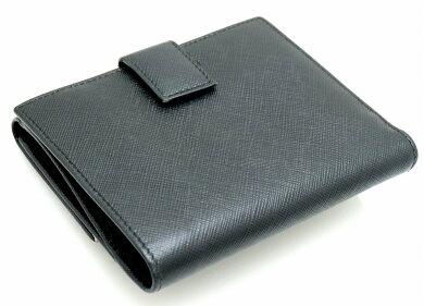 【財布】SalvatoreFerragamoサルヴァトーレフェラガモガンチーニWホック2つ折財布レザー黒ブラックシルバー金具224639【中古】【k】
