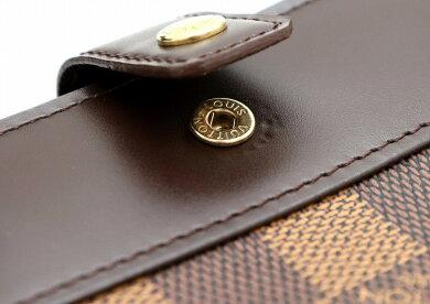 【財布】LOUISVUITTONルイヴィトンダミエコンパクトジップ2つ折ラウンドファスナー財布N61668【中古】【k】