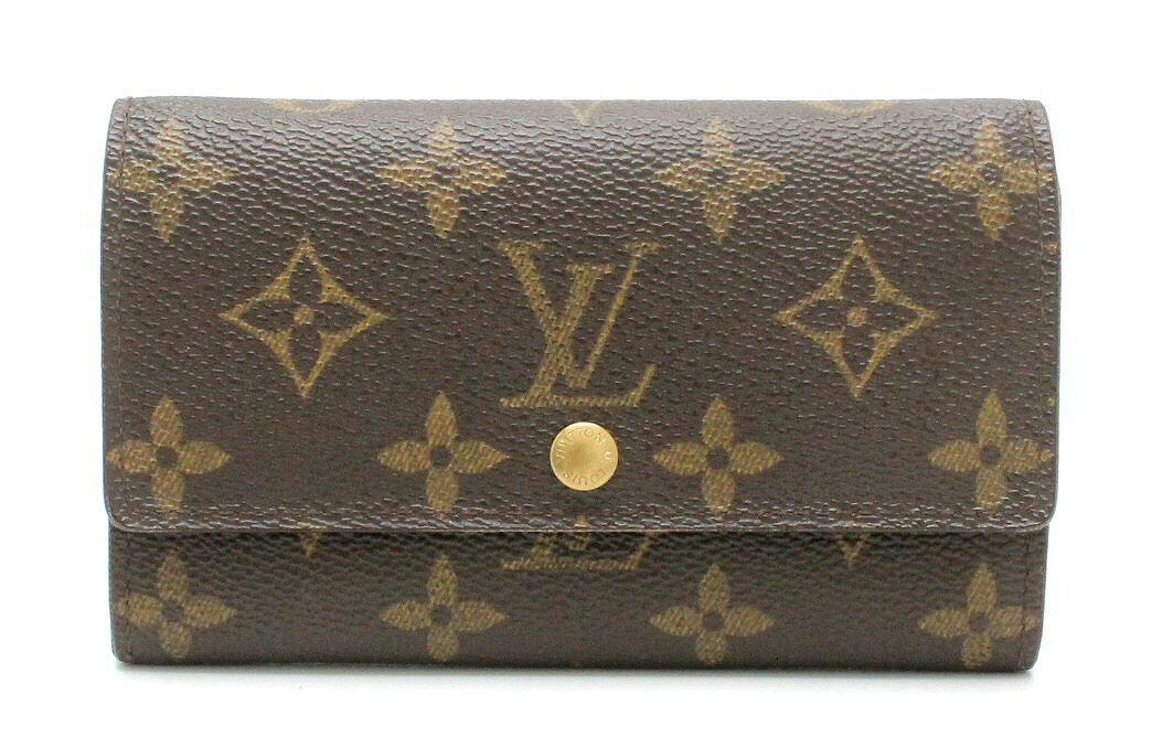 【財布】LOUIS VUITTON ルイ ヴィトン モノグラム ポルトモネ ジップ 2つ折財布 M61735 【中古】【k】