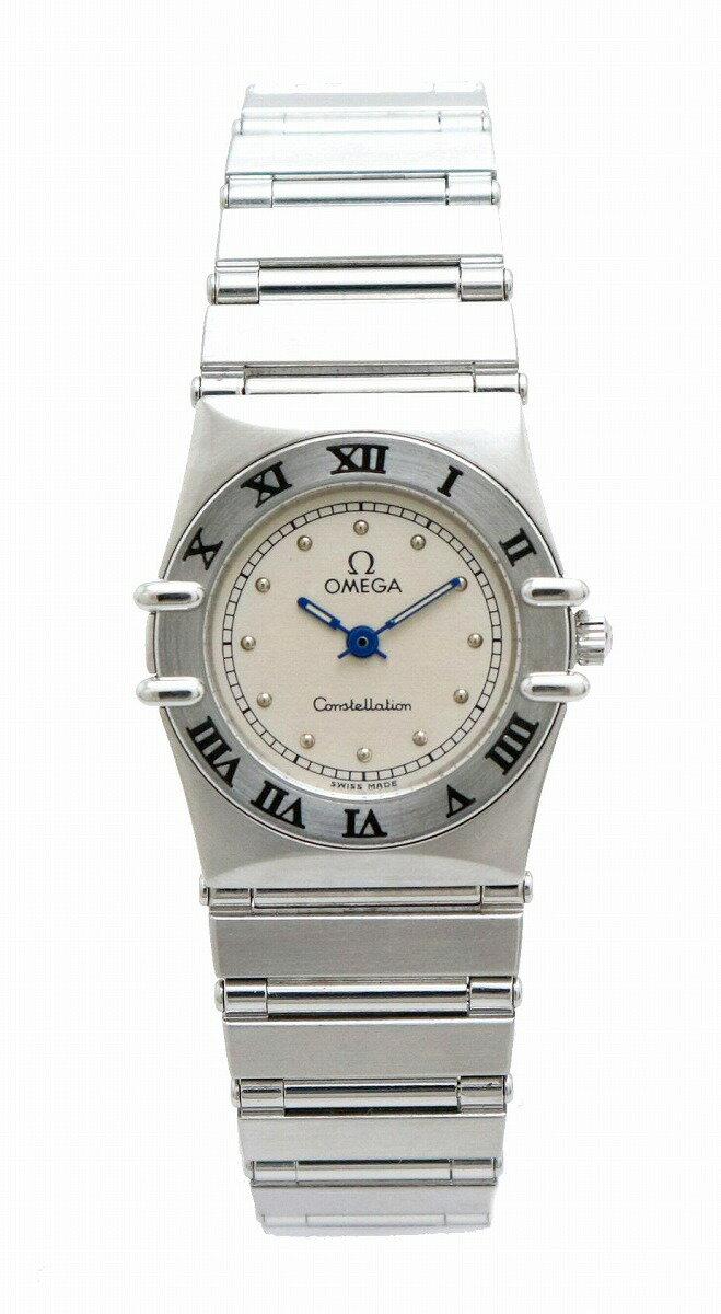 【ウォッチ】OMEGA オメガ コンステレーション シルバー文字盤 SS レディース QZ クォーツ 腕時計 396.1070 【中古】【k】