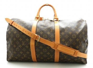 【バッグ】LOUISVUITTONルイヴィトンモノグラムキーポルバンドリエール50ボストンバッグ旅行カバントラベルバッグ2WAYショルダーバッグM41416【中古】【k】