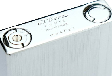 S.T.Dupontデュポンギャッツビーガスライターライターシルバー食ヘアライングリーンラベル【中古】【k】