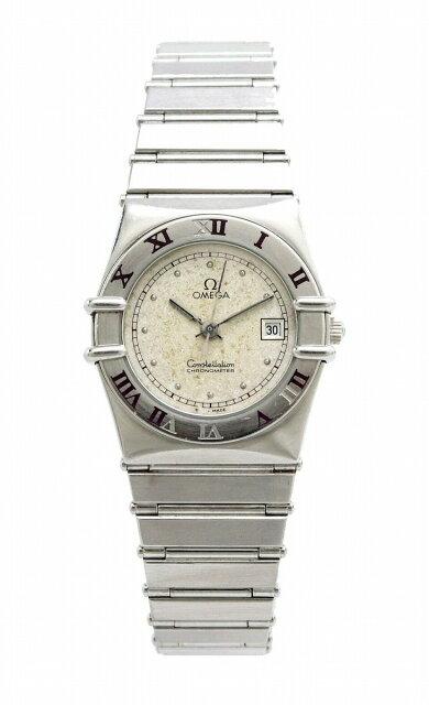 【ウォッチ】OMEGAオメガコンステレーションシルバー文字盤SSレディースQZクォーツ腕時計【中古】【k】