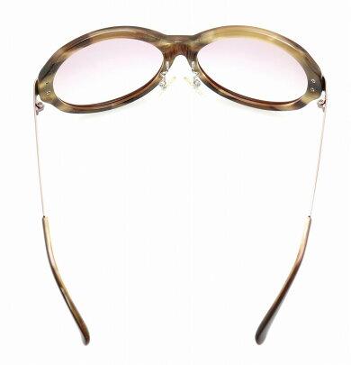 eyebrellaアイブレラサングラスC02130アイウェア59□16クリアスモークブラウン茶ゴールドEB-05【中古】【k】