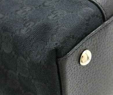 【バッグ】GUCCIグッチGGキャンバストートバッグショルダーバッグショルダートートブラック黒ゴールド金具14147002026【中古】【k】