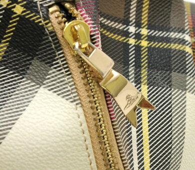 【バッグ】VivienneWestwoodヴィヴィアンウエストウッドチェック柄バックパックリュックサックレザーマルチカラーブラウン茶【中古】【k】