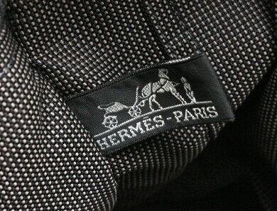 【バッグ】HERMESエルメスエールライントートMMトートバッグハンドバッグナイロンキャンバスグレー【中古】【k】