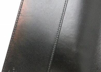 GUCCIグッチディアマンテブックカバー型押しレザーブラック黒2714760416【中古】【k】