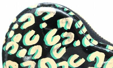 【財布】LOUISVUITTONルイヴィトンモノグラムヴェルニレオパードポルトモネクールコインケース小銭入れレザーブルーアンフィニM91472【中古】【k】