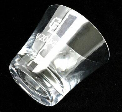 Baccaratバカラクリスタルグラス中日ドラゴンズ優勝記念ロックグラスタンブラーガラス2004年【中古】【k】