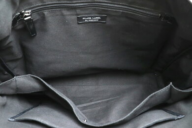 【バッグ】BURBERRYバーバリーブラックレーベル2WAYトートバッグビジネスバッグ書類バッグブリーフケースナイロンチェック柄レザーブラックD1114【中古】【k】