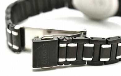 【ウォッチ】CITIZENシチズンデイトエコドライブブラック文字盤SSレディース腕時計J015-S099170【中古】【k】