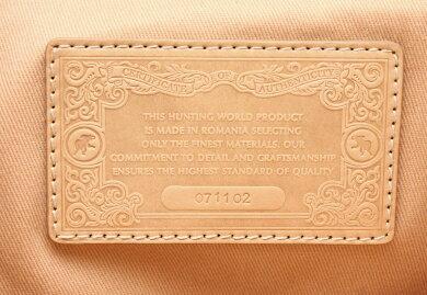 【バッグ】HUNTINGWORLDハンティングワールドバチューリュックサックデイパックベージュライトブラウン茶シルバー金具【中古】【k】