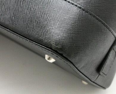 【バッグ】BURBERRYバーバリーハンドバッグレザーブラック黒シルバー金具【中古】【k】
