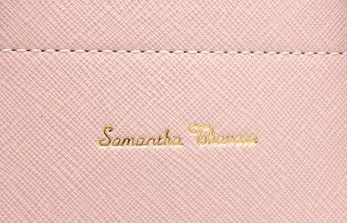 【バッグ】SamanthaThavasaサマンサタバササマンサタバサハンドバッグトートバッグショルダーバッグ2WAY斜め掛けレザーピンクグレー【中古】【k】