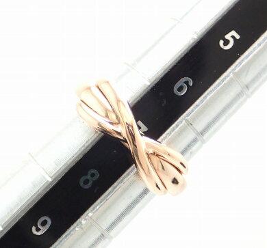 【ジュエリー】【新品仕上げ済】TIFFANY&Co.ティファニーインフィニティリング指輪K18PGAU750ピンクゴールド7号#7【中古】【k】