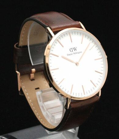 【未使用品】【ウォッチ】DanielWellongtonダニエルウェリントンクラシックローズゴールドメッキホワイト文字盤クォーツメンズ腕時計B40R5【中古】【k】