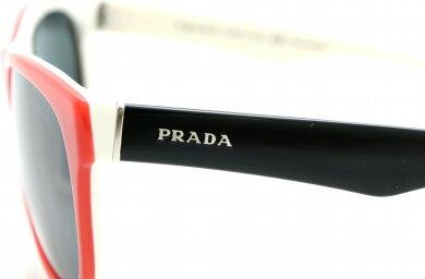 PRADAプラダサングラススモーク140レッド赤ホワイト白ブラック黒56□18SPR24L【中古】【k】