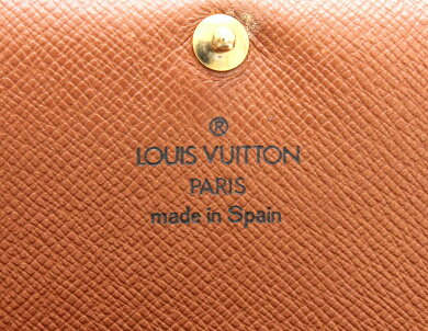 【財布】LOUISVUITTONルイヴィトンモノグラムポルトモネビエトレゾール2つ折L字ファスナー財布ベタなしM61730【中古】【k】