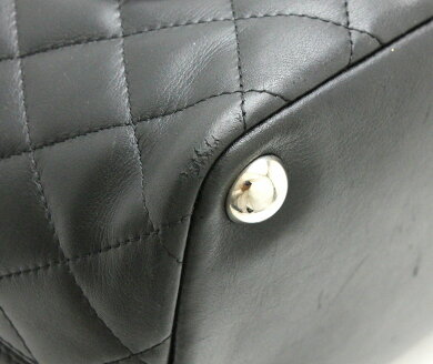 【バッグ】CHANELシャネルカンボンラインココマークラージトートショルダーバッグトートバッグソフトカーフ黒ブラック白ホワイトピンクA25169【中古】【k】