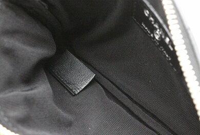【新品未使用品】【バッグ】CHANELシャネルポーチコインケースカードケースラムスキン黒ブラックフリンジ【u】