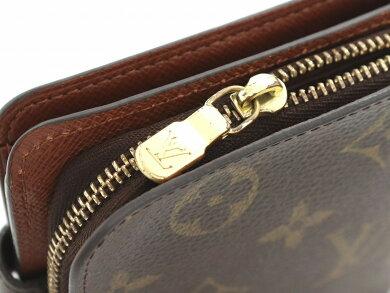【財布】LOUISVUITTONルイヴィトンモノグラムコンパクトジップコの字型2つ折ファスナー財布ベタなしM61667【中古】【u】