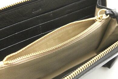 【財布】Chloeクロエシャドウラウンドファスナー長財布レザー黒ブラック3P0320-7A733【中古】【u】