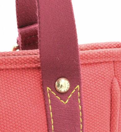 【バッグ】LOUISVUITTONルイヴィトンアンティグアラインカバPMハンドバッグトートバッグキャンバスルージュレッド赤M40037【中古】【k】