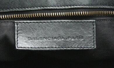 【バッグ】BALENCIAGAバレンシアガエディターズバッグザパートタイムハンドバッグ2WAYショルダーバッグレザーブラック黒168028【中古】【k】