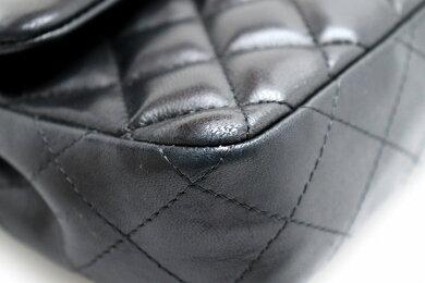 【バッグ】CHANELシャネルマトラッセココマークチェーンショルダーバッグラムスキン黒ブラックボルドーシルバー金具A35731【中古】【k】