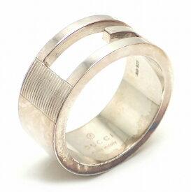 b622611a1d90 【ジュエリー】GUCCI グッチ ブランデッドG リング オープンGリング 指輪 SV925 シルバー 10.5