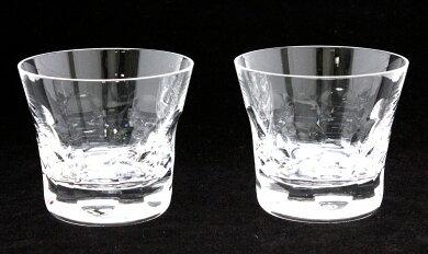 【未使用品】Baccaratバカラベルーガクリスタルペアグラスロックグラスタンブラーセットガラス【中古】【k】