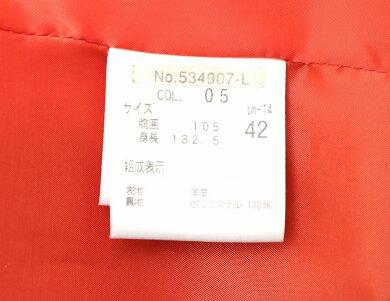 【アパレル】Theoryセオリーレディースアウタージャケットサイズ42羊革レザーブラック黒【中古】【k】