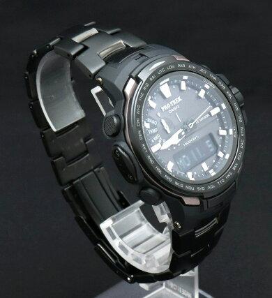 【ウォッチ】CASIOカシオPROTREKプロトレックトリプルセンサータフソーラー電波時計メンズ腕時計PRW-6100YT-1JF【中古】【k】