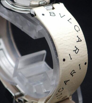 【ウォッチ】BVLGARIブルガリB.zero1B-zero1Bzero1ビーゼロワンブルーシェル文字盤レザーベルトMサイズレディースQZクォーツ腕時計BZ22S【中古】【k】
