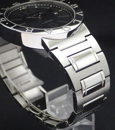 【ウォッチ】BVLGARIブルガリブルガリブルガリデイトブラック文字盤メンズATオートマ腕時計BB42SSAUTO【中古】【k】
