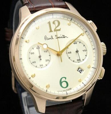 【ウォッチ】PaulSmithポールスミスポールスミスザシティ2カウンタークロノグラフデイトGPメンズQZクォーツ腕時計BX2-0606521-S087341【中古】【k】
