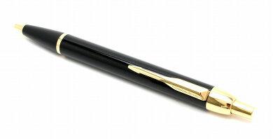 【新品未使用品】PARKERパーカーIMラックブラック油性ボールペンペン先Mブラック黒ゴールドS1142332【k】