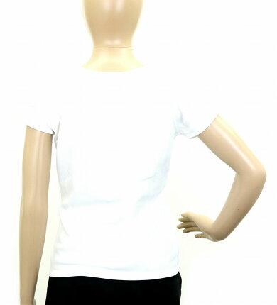 【アパレル】CHANELシャネルレディース半袖カットソーTシャツココマークポリエステル100%ホワイト白サイズ38【中古】【k】