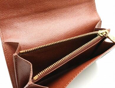 【財布】LOUISVUITTONルイヴィトンモノグラムポルトモネジップ2つ折財布M61735【中古】【k】