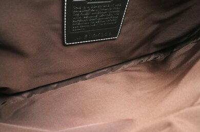 【バッグ】COACHコーチシグネチャーメッセンジャーバッグショルダーバッグ斜め掛けキャンバスレザーブラウン茶黒ブラック5229【中古】【k】