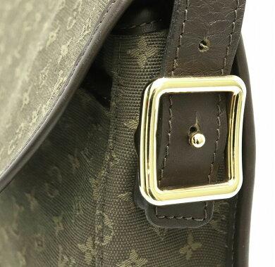 【バッグ】LOUISVUITTONルイヴィトンモノグラムミニショルダーバッグベランジェールキャンバスレザーTSTカーキ緑M92673【中古】【k】
