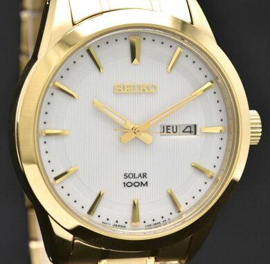【新品未使用品】【ウォッチ】SEIKOセイコーソーラーメンズデイデイトGPクォーツ腕時計SNE366P1V158-0AS0【k】