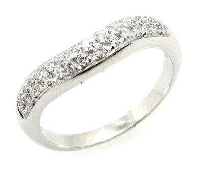 【ジュエリー】【新品仕上げ済み】BVLGARIブルガリコロナダイヤモンドパヴェダイヤリング指輪Pt950プラチナ#99号【中古】【k】