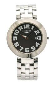 【ウォッチ】LONGINES ロンジン ドルチェヴィータ デイト ブラック文字盤 SS メンズ QZ クォーツ 腕時計 L5.675.4 【中古】【u】