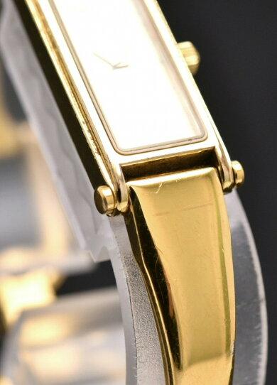 【ウォッチ】GUCCIグッチゴールド文字盤GPゴールドカラーレディースクォーツ腕時計1500L【中古】【k】