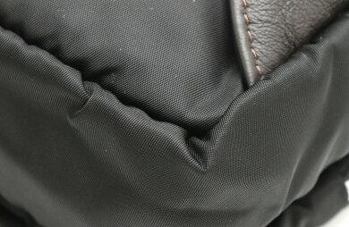 【バッグ】OrobiancoオロビアンコAIGLEヒップバッグボディバッグショルダーウエストバッグナイロンレザーブラック黒ダークブラウン茶シルバー金具【中古】【k】