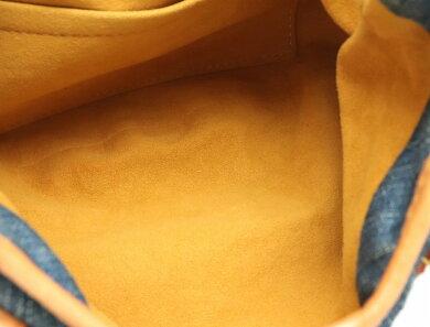 【バッグ】LOUISVUITTONルイヴィトンモノグラムデニムプリーティハンドバッグ青ブルーM95020【中古】【k】