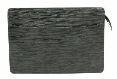 【バッグ】LOUISVUITTONルイヴィトンエピポシェットオムセカンドバッグハンドバッグクラッチバッグレザーノワール黒ブラックM52752【中古】【k】